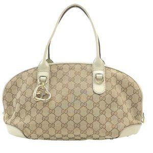 Auth Gucci Hand Bag Beige Canvas #N79737C74